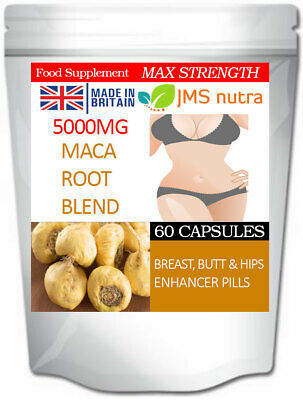 Big Breast Butt and Hips Enhancement Curvy Pillsc Maca Root Blend 5000mg