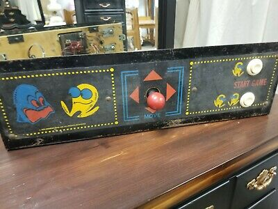 Pacman Upright Arcade Control Panel! Populated With Joystick & Buttons! Pac-Man!