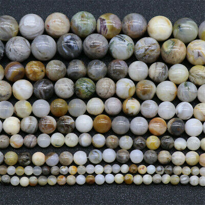 4-12mm Natural Bamboo Leaf Agate Loose Beads Diy Accessories Styles Craft