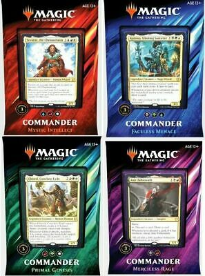 Set of 4 Sealed 2019 Magic the Gathering MTG ENGLISH Commander Decks