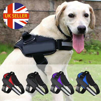 Durable Dog Puppy Vest Harness Strong Outdoor Adjustable Reflective XS S M L UK