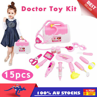 15pcs Pretend Play Doctor Nurse Toys Set Medical Kit Role Play Educational Toy