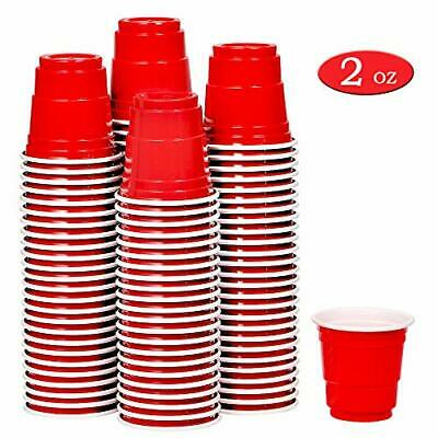 Mini Party Solo Cups Red Disposable Jello Shots Jagger Bomb Beer Pong 100 Ct 2Oz