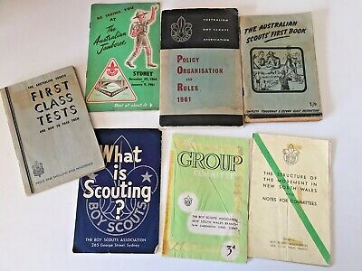 Australian Boy Scouts booklets and brochures - 1960's x 8 items