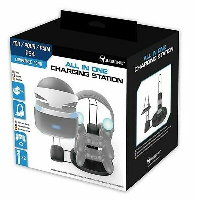 Subsonic VR Headset Stand and Charger PSVR PS4 PS VR PlayStation Controller