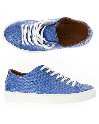 DANIELE ALESSANDRINI SHOES Sneaker ITALY Leather Man Blue