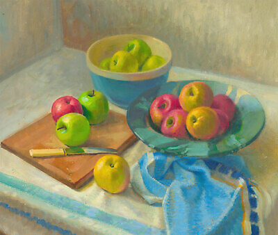 20th Century Oil - Still Life with Apples