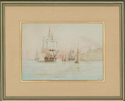 J.C - Framed 20th Century Watercolour, The Naval Ships