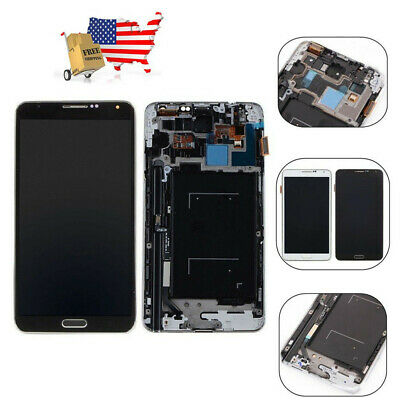 For Samsung Galaxy NOTE 3 N900A N900T LCD Touch Screen Digitizer Replace + Frame