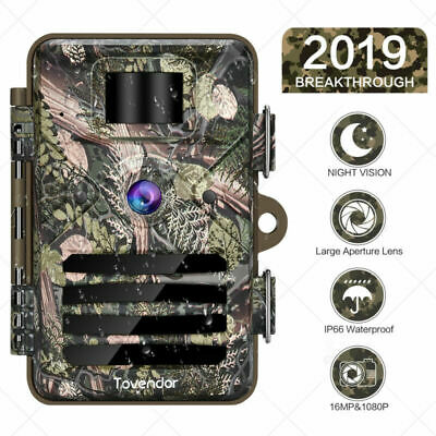 Waterproof  16MP Trail Camera IP66 Outdoor Hunting Cam with No Glow Night Vision