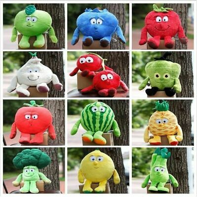 Vegetable Fruit Plants Stuffed Baby Pillow Cushion Soft Plush Doll Toy Kid Gift