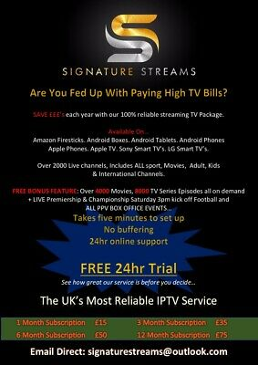 Iptv Free Full Service Hd Firestick Smart Tv Lg Sony Mag Apple Android Pc