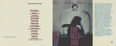 SYLVIA PLATH - THE BELL JAR - 1963 - Facsimile of First Printing D/J ONLY