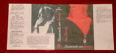 Ian Fleming - Diamonds Are Forever - Facsimile Dustjacket Only - 1956 - 1St/1St