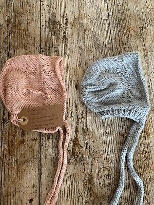Luxury Baby Bonnets From Etsy. 2 Items. 0-3 Months. Brand New.