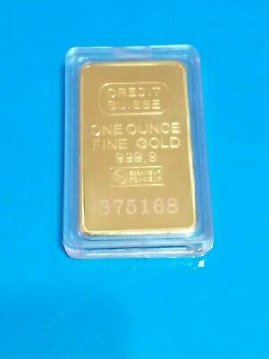 Lingotto oro 24 kt Credit Suisse 1 oncia