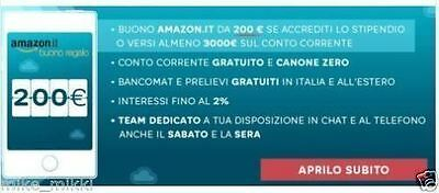 apri il conto hello bank per te 200 eur amazon + regalo  25 eur in buoni amazon