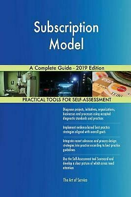 Subscription Model a Complete Guide - 20 by Gerardus Blokdyk Paperback Book Free