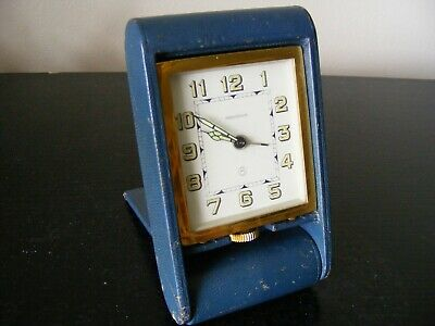 Vintage Jaeger Lecoultre 8 Day Travel Alarm Clock - Good Working Order