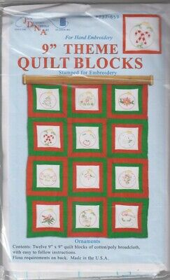 1 Jack Dempsey Christmas Ornaments Embroidery Quilt Blocks