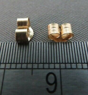 9ct Yellow Gold Scroll Butterfly Backs.Findings.  Ref: xfd