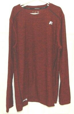 Russell Boys Size XL 14-16  88% polyester 12% spandex red long sleeve shirt EUC