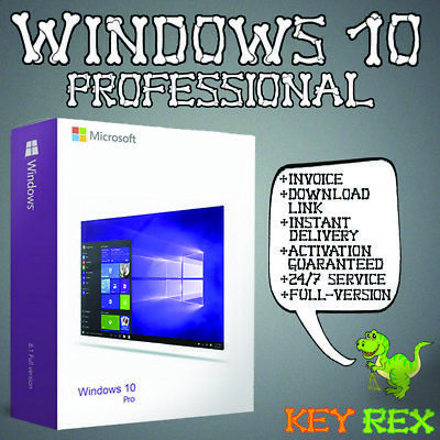 Windows 10 Professional (Win 10 Pro) ✔32&64 Bit ✔ Anleitung ✔ Versand per Email