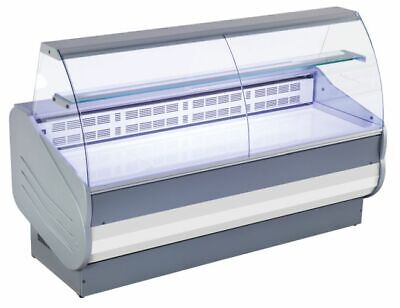 Refrigerated Counter, Curved Hard Glass, Painted