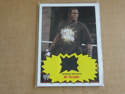 2012 Topps Heritage Wwe Wrestling R-Truth Shirt Relic Swatch E6726