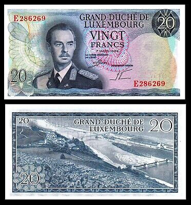 P-54 Luxembourg 20 Francs 1966 UNC banknote