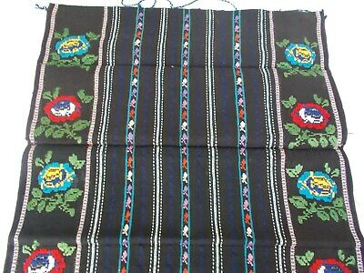 Antique Authentic Ethno Hand Embroidered Cotton/Wool APRON, Serbia