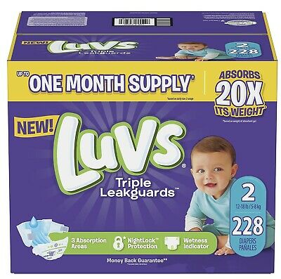 Luvs Ultra Leakguards Diapers Size 2, -228 ct. (12-18 lb.)