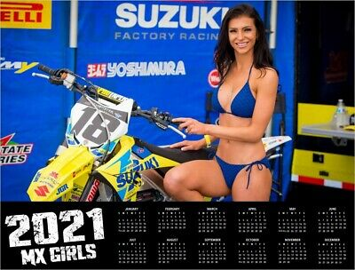 2020 MX GIRLS DELUXE WALL CALENDAR Motocross Dirt Bike Pin Up Girls