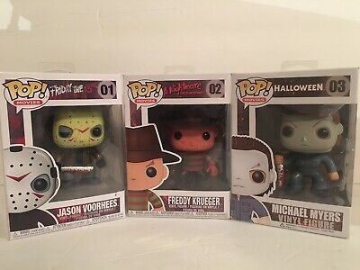 Funko Pop Movies: Jason Voorhees 01, Freddy Krueger 02, Micheal Myers03 lot