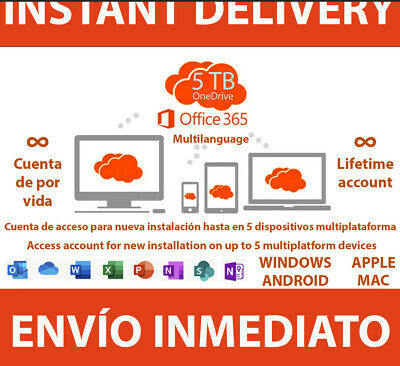 Instant Delivery ✔️ Office 365 2019 ✔️ Lifetime ✔️ Account 5 Devices ✔️ Win/Mac