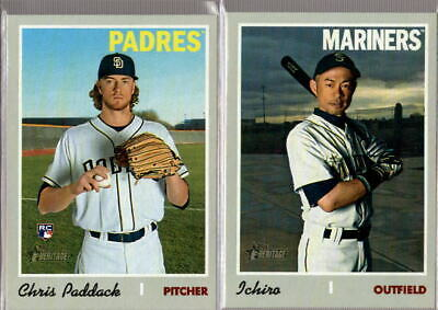 2019 Topps Heritage High Number Shortprint SP #701-725 - You Pick From A List