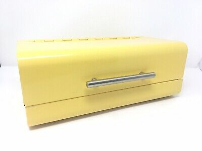 mDesign Metal Kitchen Countertop Bread Box, Home Storage Bin - Retro, Yellow