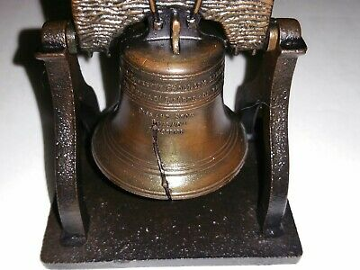 ~Bronze LIBERTY BELL 1776 Replica Ringing Bell~ Paperweight ~ Sweet Ding~