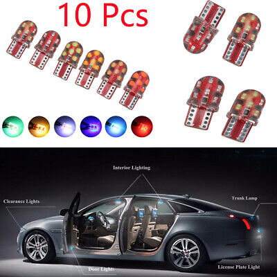 Dashboard Lights 12SMD  Turn Side Lamps COB W5W  T10 Silicone Lamp LED Bulb