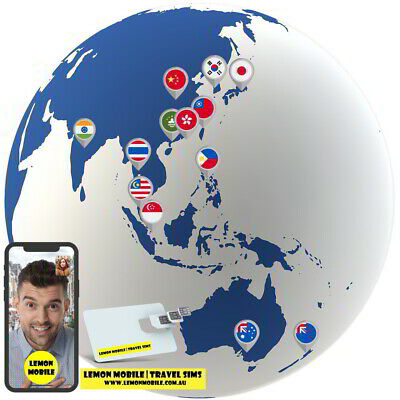 7/15 Days Asia-Pacific 13 Countries SIM Card|13-in-1 Unlimited Data |Plug n play
