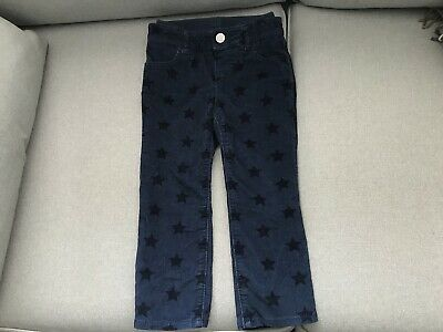 BABY GAP NAVY CORD JEANS TROUSERS AGE 2years WITH STAR DESIGN