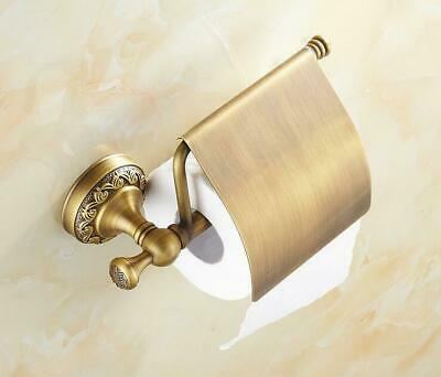 Toilet Paper Holder Antique Brass Wall Mounted Bathroom Paper Roll Holder Bronze