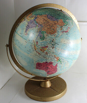 Vintage ~ World Globe Replogle World Nation Series 12 inch Globe Top Metal Base