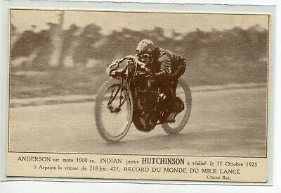 MOTOCYCLISME Anderson sur Moto 100 cc Indian pneus Hutchinson oct 1925  E07 2019