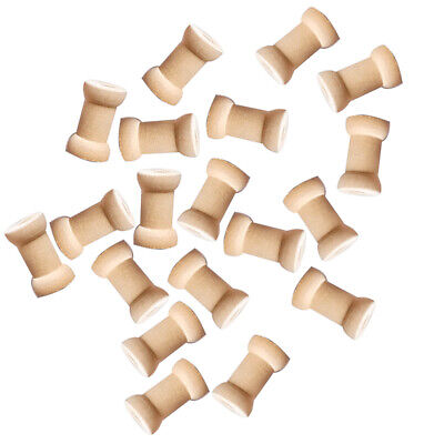 Lot Of 20 Large Wooden Wood Hand Crafts Thread Spool Craft Bird Toy Parts New
