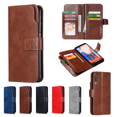 For Samsung Galaxy Note 10 Plus A70 A50 A30 Card Holder Leather Flip Wallet Case