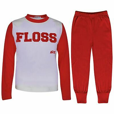 Kids Girls Boys Pyjamas Floss A2Z Red Fashion Night Loungewear PJS Outfit Sets