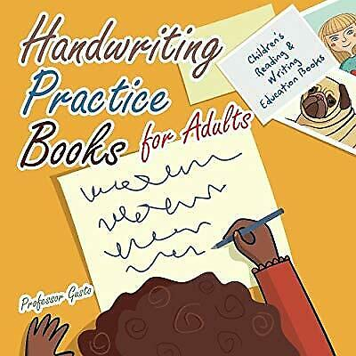 Handwriting Practice Books for Adults : Childrens Reading & Writing Education Bo