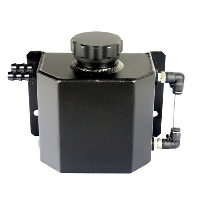 Oil Catch Can Fittings Universal Breather Tank Crank Breather Square Black