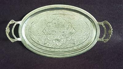 Wonderful Antique 1900s Persian Asia Minor Sterling Silver Card Tray/Salver 132g